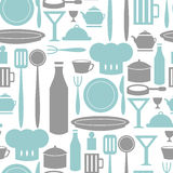 Seamless pattern kitchen and cooking Stock Photography