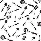Seamless pattern with  kitchen items. Stock Image