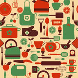 Seamless pattern kitchen tools. Stock Photos
