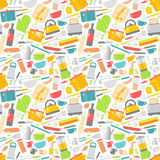 Seamless pattern with kitchen tools vector illustration. Stock Photos