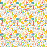 Seamless pattern with kitchen tools vector illustration. Royalty Free Stock Photos