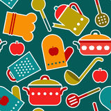 Seamless pattern of kitchen utensil Royalty Free Stock Images