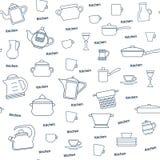 Seamless pattern of kitchen utensil Royalty Free Stock Image
