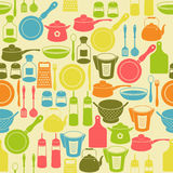 Seamless pattern with kitchen utensils Stock Photography