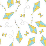 Seamless Pattern with Kite Royalty Free Stock Photography