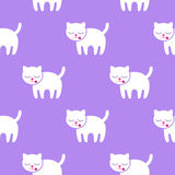 Seamless pattern. Kitten on a purple background. Kitten on a purple background. Seamless pattern royalty free illustration