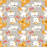 Seamless pattern - kittens Royalty Free Stock Images