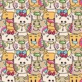 Seamless pattern - kittens Stock Photography