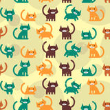 Seamless pattern with kittens Stock Photography