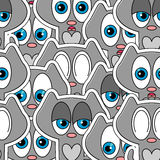 Seamless pattern with kittens Royalty Free Stock Images