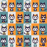 Seamless pattern with kittens in clothes Royalty Free Stock Image