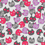 Seamless pattern with kitties Royalty Free Stock Photo