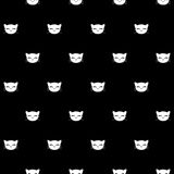Seamless pattern with kitty faces Royalty Free Stock Photography
