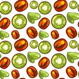 Seamless pattern of kiwi royalty free stock images