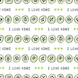 Seamless pattern with kiwi Stock Images