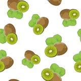 Seamless Pattern of  Kiwifruit Stock Photography