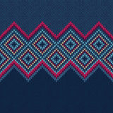 Seamless Pattern. Knit Woolen Ornament Texture Royalty Free Stock Photo