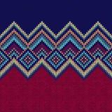 Seamless Pattern. Knit Woolen Ornament Texture Stock Photography