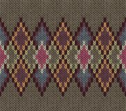 Seamless Pattern. Knit Woolen Trendy Ornament Texture. Fabric Color Tracery Background Royalty Free Stock Image