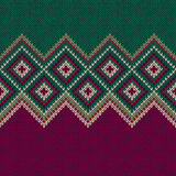 Seamless Pattern. Knit Woolen Trendy Ornament Texture Stock Photos