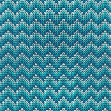 Seamless pattern with knitted chevron ornament Royalty Free Stock Image