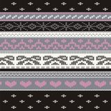 Ornamental pattern for knitting and embroidery Royalty Free Stock Photos