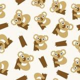 Seamless pattern with koalas. Vector illustration Stock Image