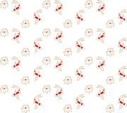 Seamless pattern of koi carp, fish and lotus flower. Pattern in Asian style Stock Photography