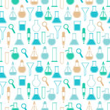 Seamless pattern with laboratory equipment Royalty Free Stock Photo