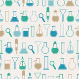 Seamless pattern with laboratory equipment Stock Images