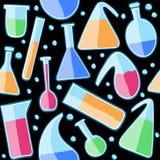 Seamless pattern laboratory glass Stock Images