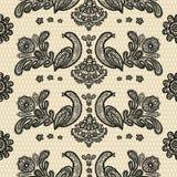 Seamless pattern lace birds Stock Photography
