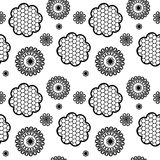 Seamless pattern lace black and white Royalty Free Stock Image