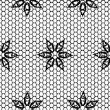 Seamless pattern lace black and white Stock Photos