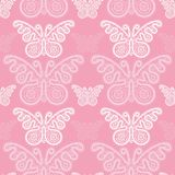 Seamless pattern lace butterflys Royalty Free Stock Images