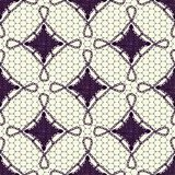 Seamless pattern of lace canvas. Dark tracery on a White background. Royalty Free Stock Photography