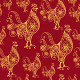 Seamless pattern with lace cock 24 Royalty Free Stock Photo