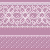 Seamless pattern with lace for design. Vector seamless white on rose pattern with lace for design royalty free illustration