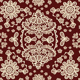 Seamless pattern on a lace elements Royalty Free Stock Photo