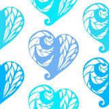 Seamless pattern with lace hearts Royalty Free Stock Image