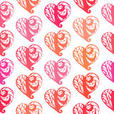 Seamless pattern with lace hearts Stock Photography