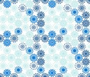 Seamless pattern with lace of snowflakes. Winter vector illustration royalty free illustration