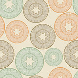 Seamless pattern with lacy balls Royalty Free Stock Photo