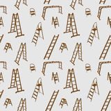 Seamless pattern of ladder silhouette. vector Stock Photos