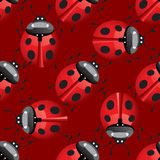 Seamless pattern with lady bug Stock Photo