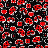 Seamless pattern with ladybirds Royalty Free Stock Images