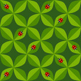 Seamless pattern with ladybug Royalty Free Stock Photos