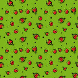 Seamless pattern with ladybugs Stock Images