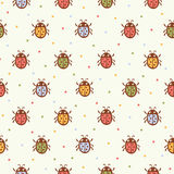 Seamless pattern with Ladybugs. Royalty Free Stock Photography