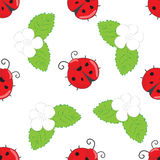Seamless pattern with ladybugs Royalty Free Stock Photography